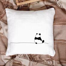 Kissenbezug mit Panda Muster ohne Fuellstoff