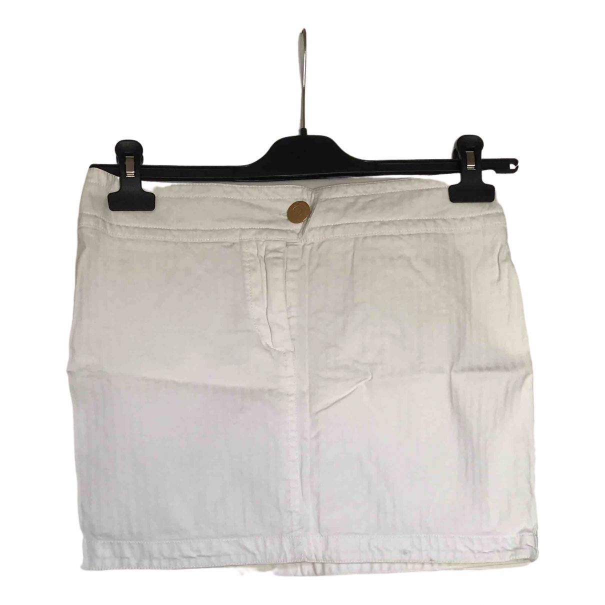 Cerruti - Jupe   pour femme en coton - blanc