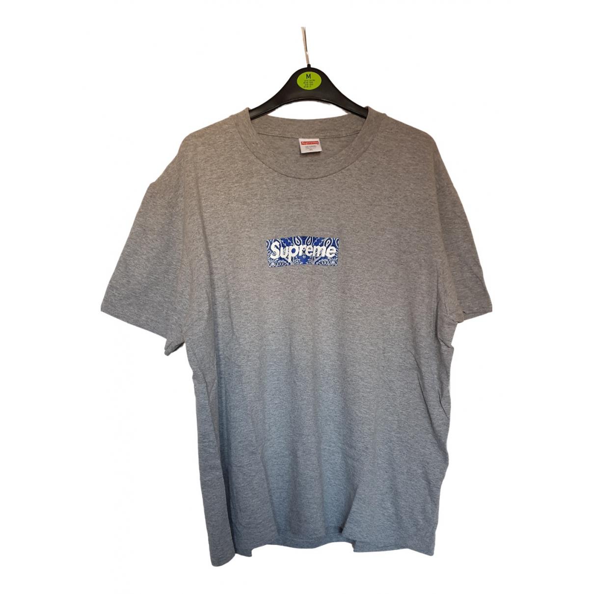 Supreme - Tee shirts   pour homme en coton - gris
