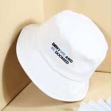 Sombrero cubo con letra