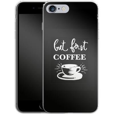 Apple iPhone 6 Plus Silikon Handyhuelle - Coffee First von Mukta Lata Barua