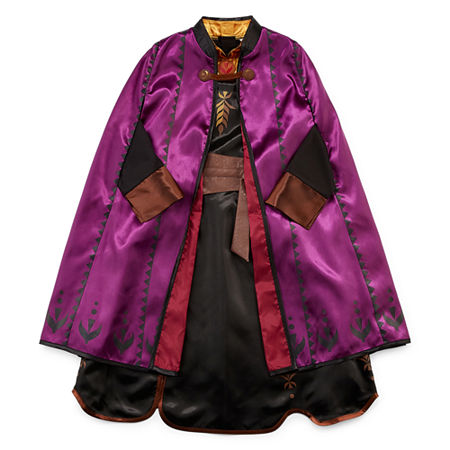 Disney Collection Frozen 2 Anna Girls Costume, 7/8 , Purple