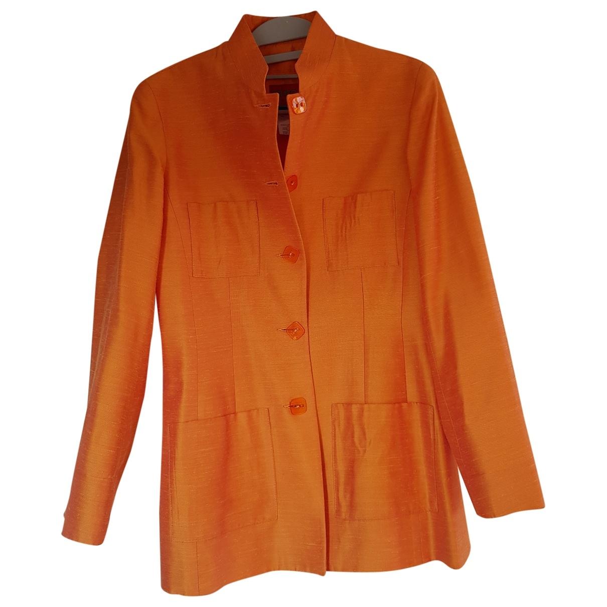 Kenzo - Veste   pour femme en soie - orange