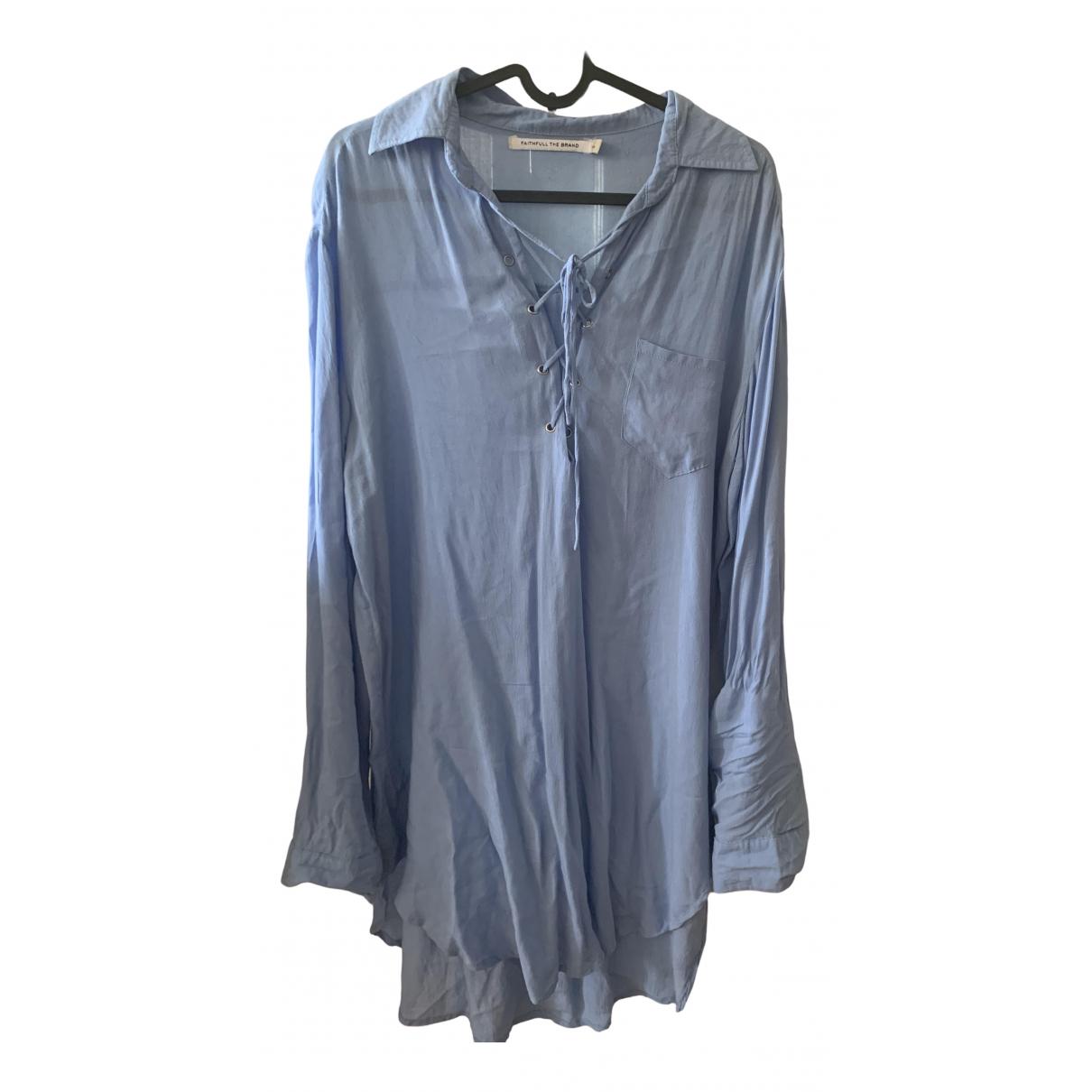 Faithfull The Brand \N Kleid in  Blau Viskose
