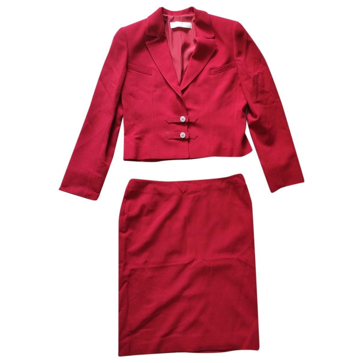 Valentino Garavani - Jupe   pour femme en laine - rouge