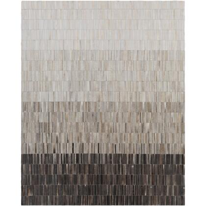 Outback OUT-1010 8' x 10' Rectangle Modern Rug in Medium Gray  Ivory  Camel
