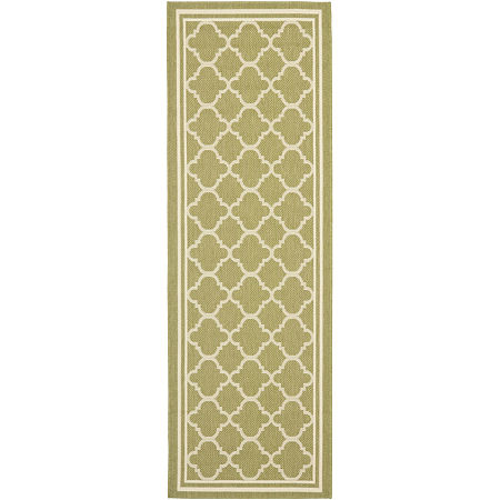 Safavieh Courtyard Collection Crispian Geometric Indoor/Outdoor Runner Rug, One Size , Multiple Colors