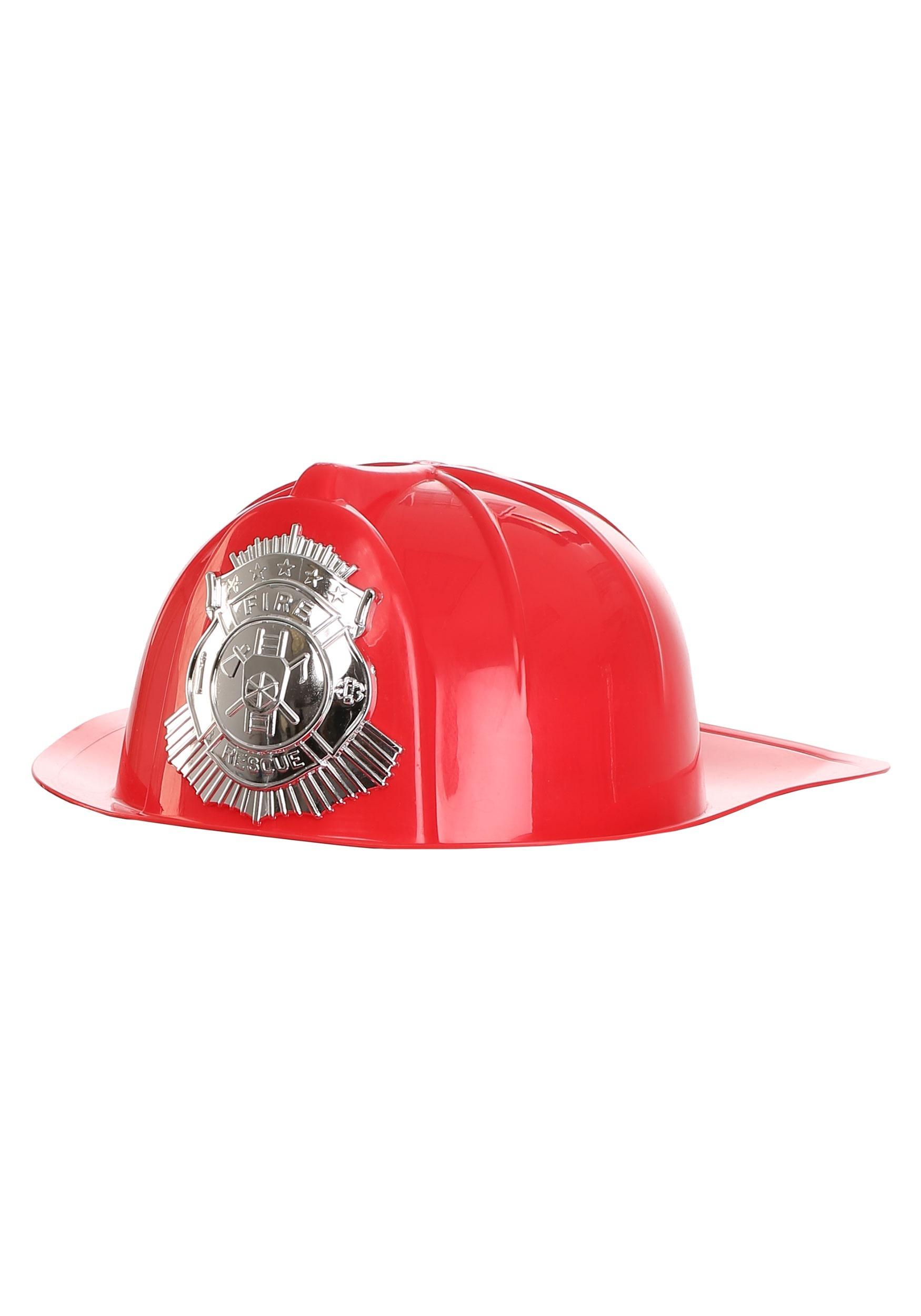 Deluxe Fireman's Red Helmet