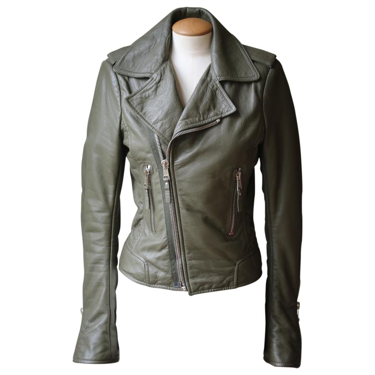 Balenciaga - Veste   pour femme en cuir - vert
