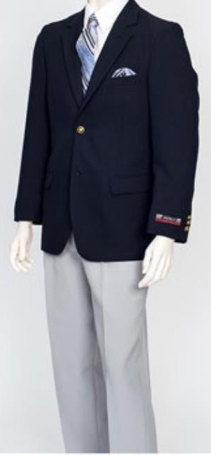 Pacelli Mens Classic Navy 2 Button Jacket Blair