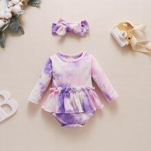 Body de bebe Volante Tie-Dye