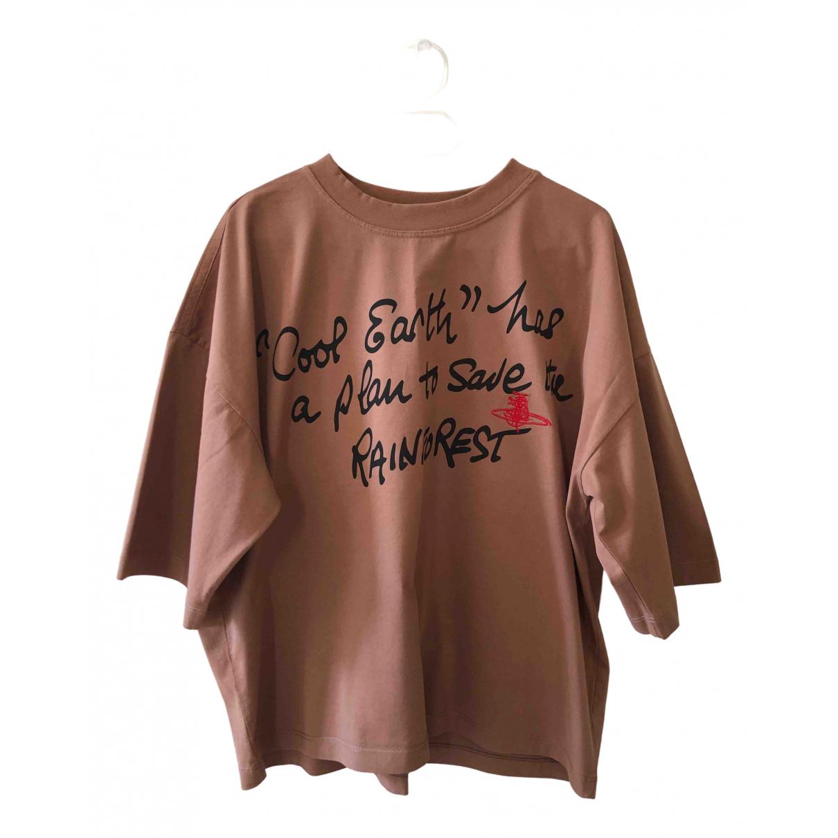 Burberry - Top   pour femme en coton - marron