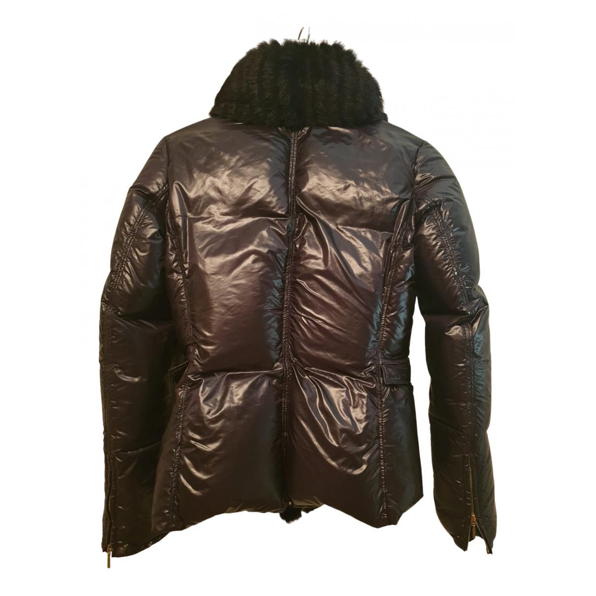 Roberto Cavalli N Black Linen Trench coat for Women 40 IT
