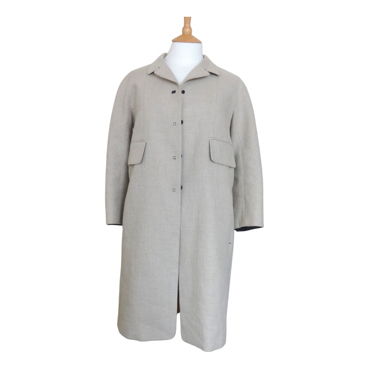 Carven \N Ecru Linen coat for Women 36 FR