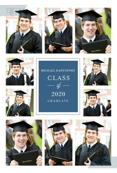 Graduation 20x30 Poster, Home Décor -Classy Grid Graduation