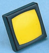 Schurter Yellow Button Tactile Switch, SPST-NO 80 mA