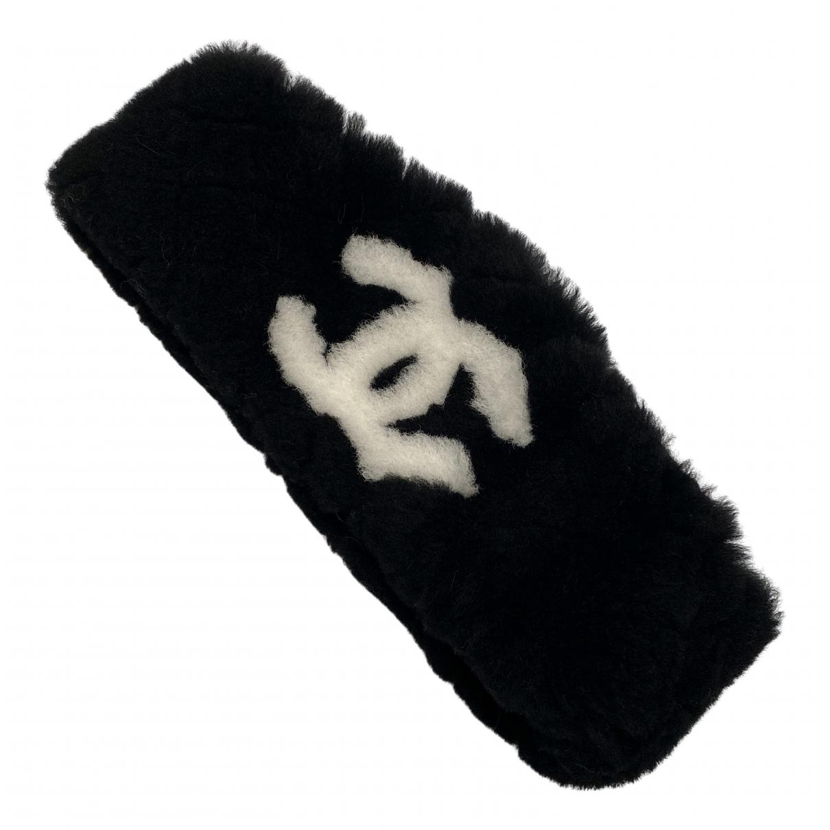 Chanel Matelasse Haarschmuck in  Schwarz Schaf