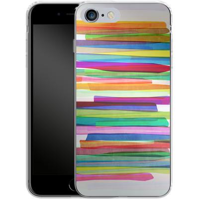 Apple iPhone 6 Plus Silikon Handyhuelle - Colorful Stripes 1 von Mareike Bohmer