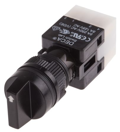 RS PRO , 3 Position NC/NO Rotary Switch, 5 A @ 250 V ac, Solder