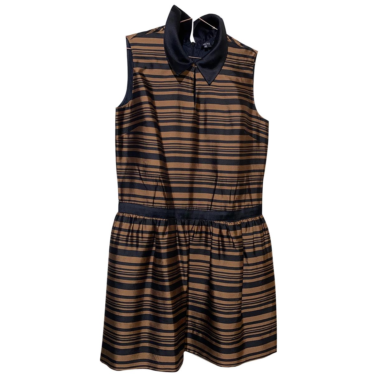 Raoul - Robe   pour femme en soie - marron