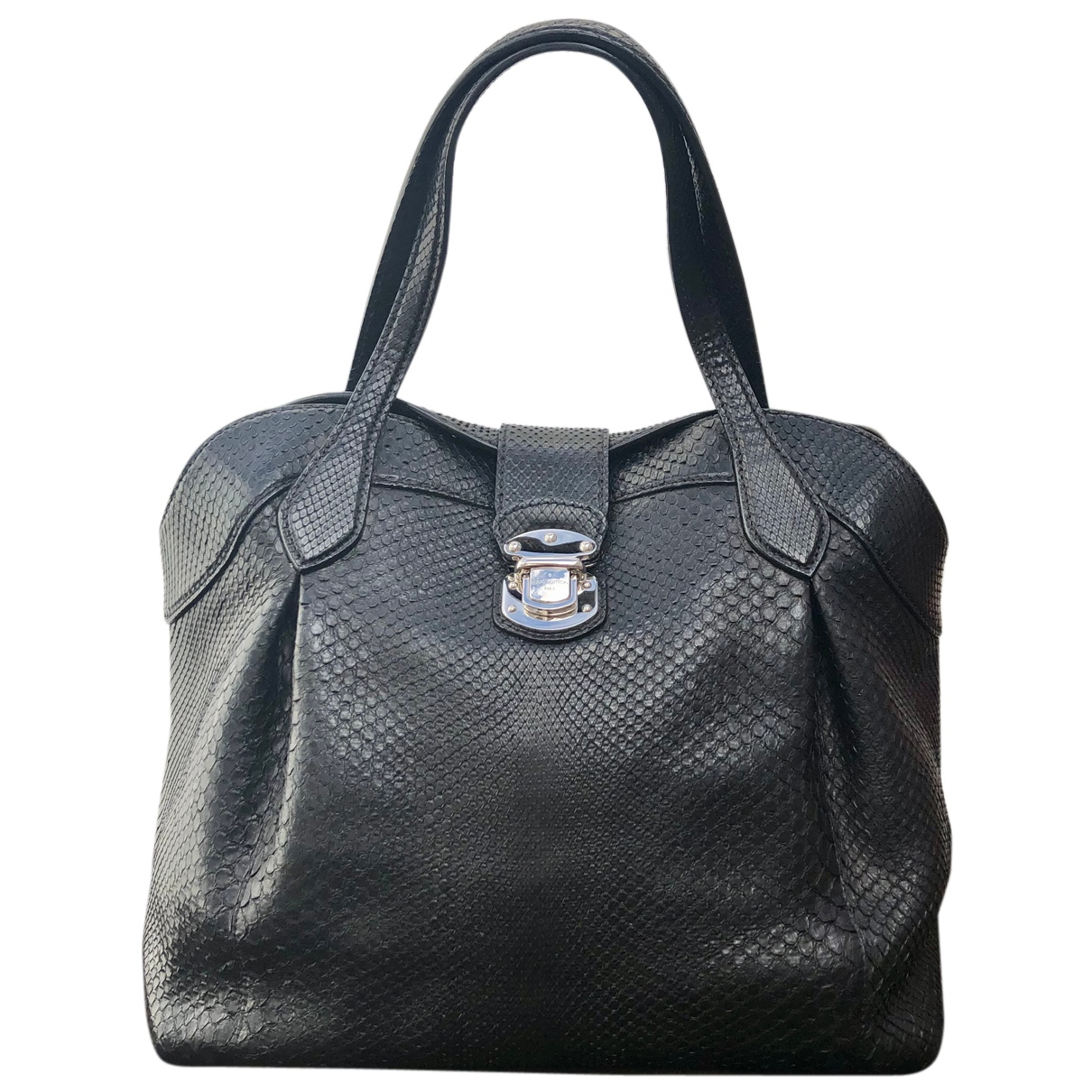 Louis Vuitton N Black Python handbag for Women N