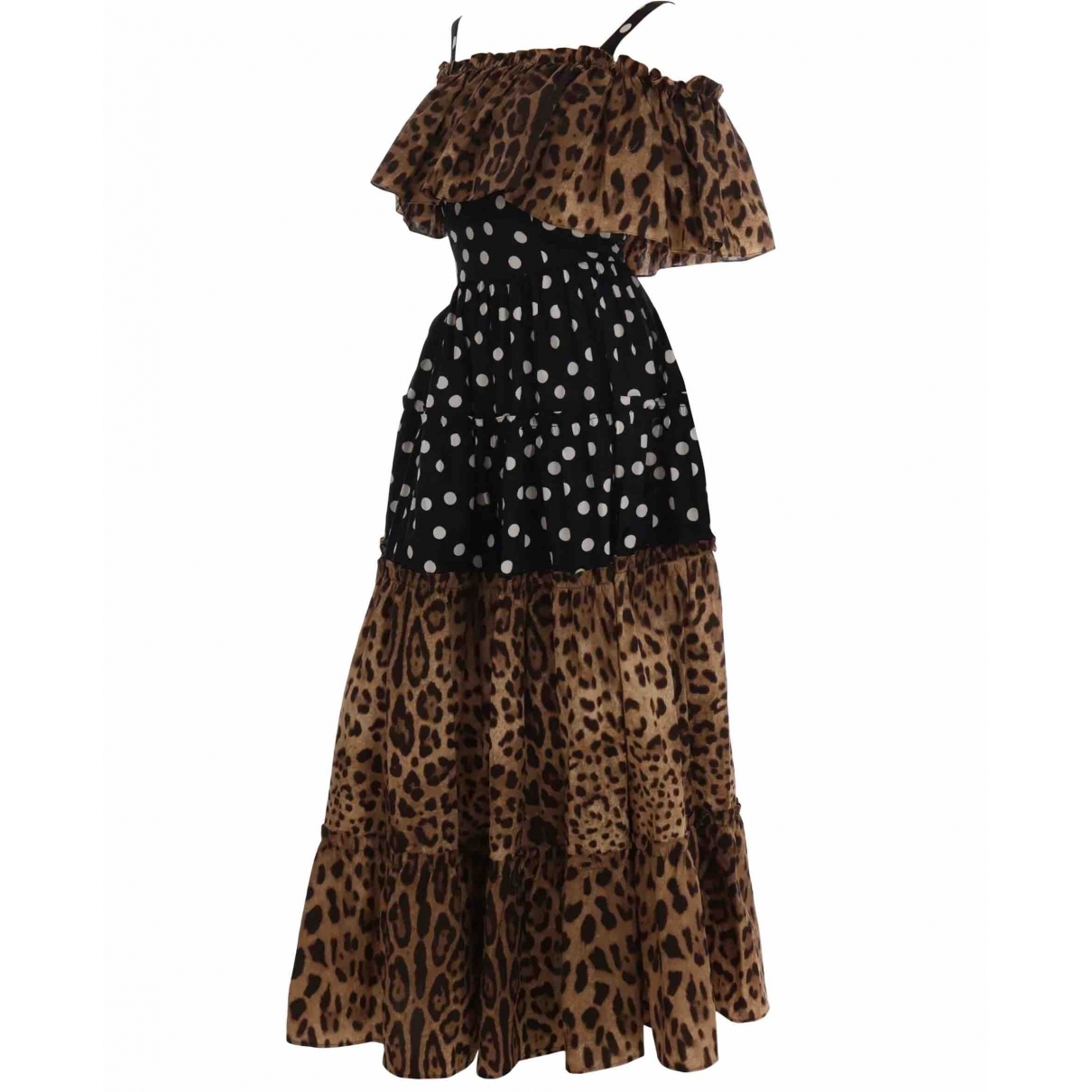 Dolce & Gabbana \N Kleid in  Braun Baumwolle