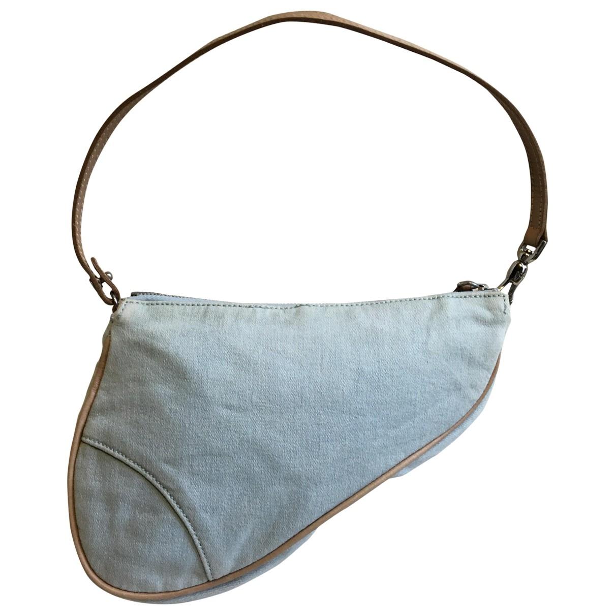 Dior Saddle Clutch in  Blau Denim - Jeans