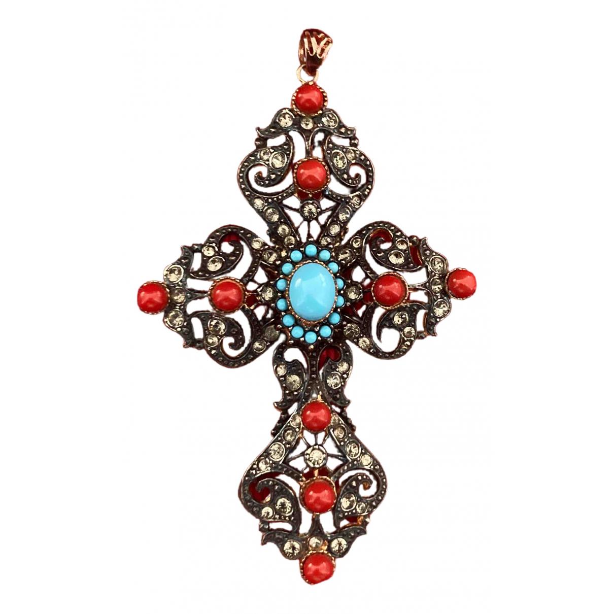 - Broche Croix pour femme en metal - multicolore