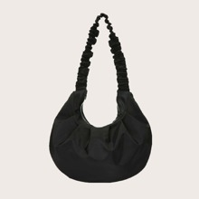 Ruched Decor Shoulder Bag