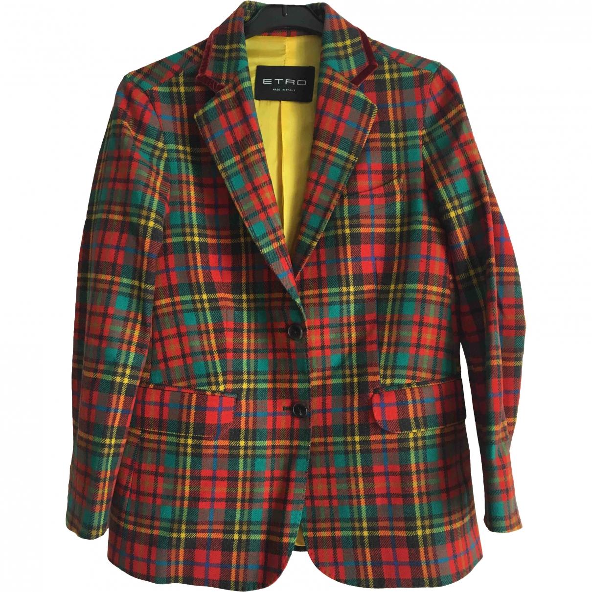 Etro - Veste   pour femme en laine - multicolore