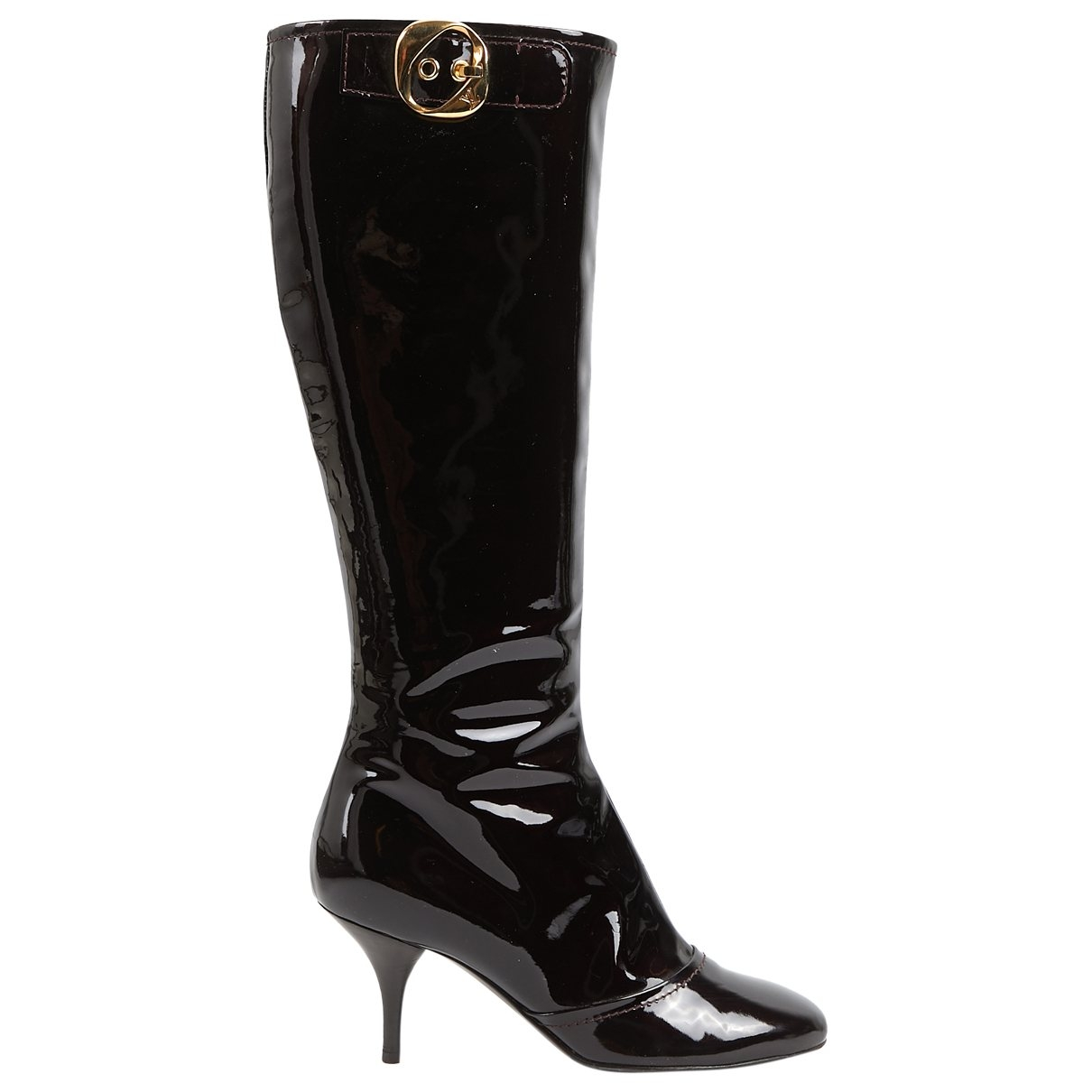 Louis Vuitton \N Burgundy Patent leather Boots for Women 37 EU