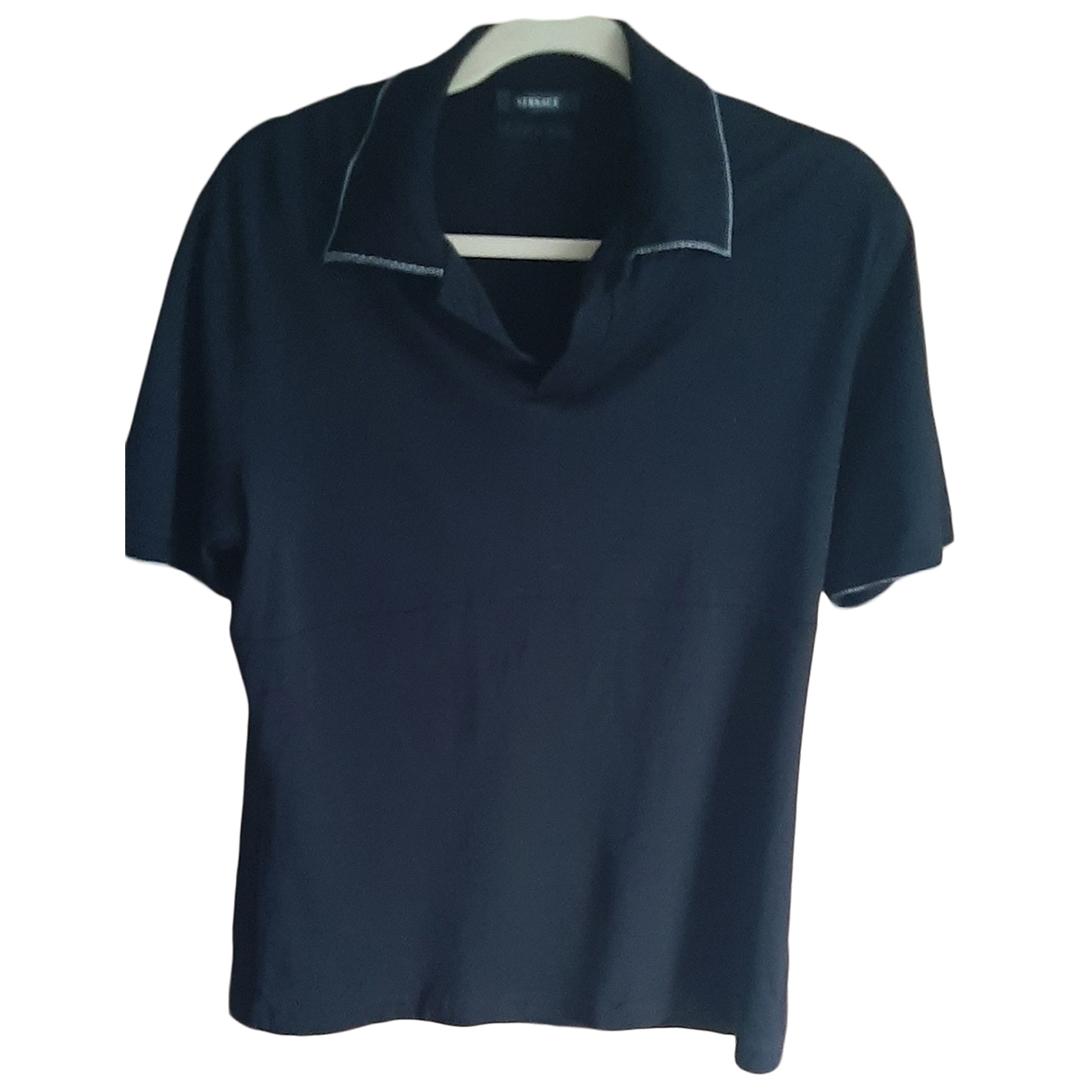 Versace \N Black Cotton Polo shirts for Men 52 IT