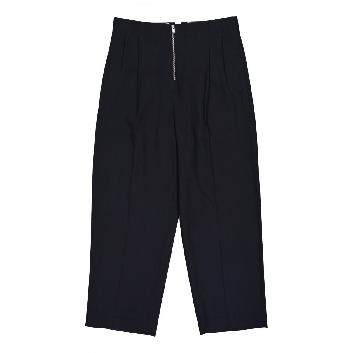 Celine \N Navy Wool Trousers for Women 44 FR