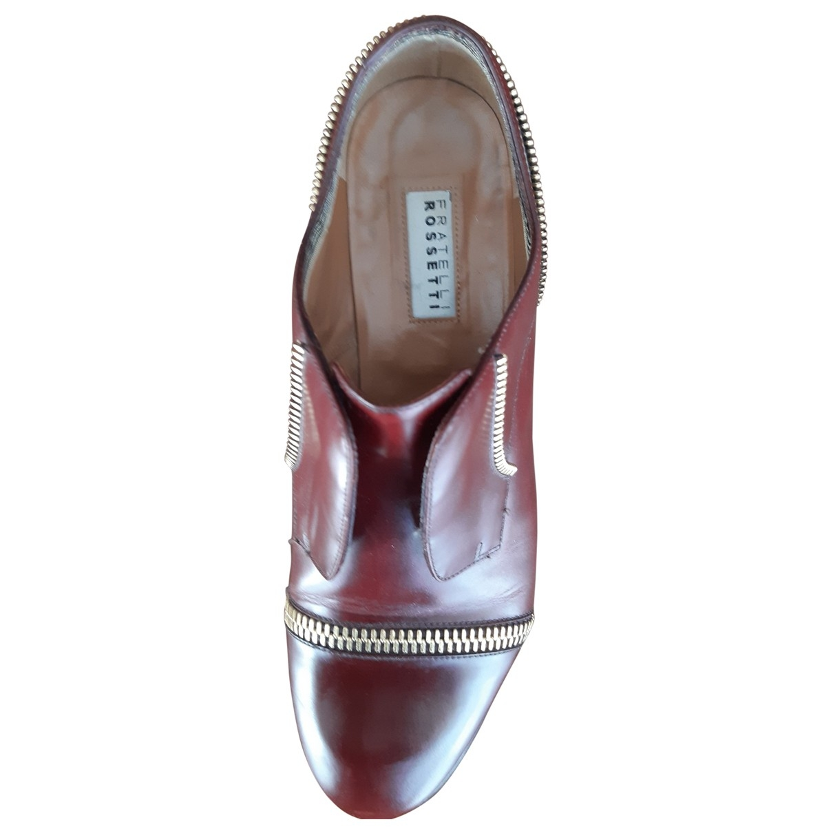 Fratelli Rossetti \N Burgundy Leather Flats for Women 36 EU