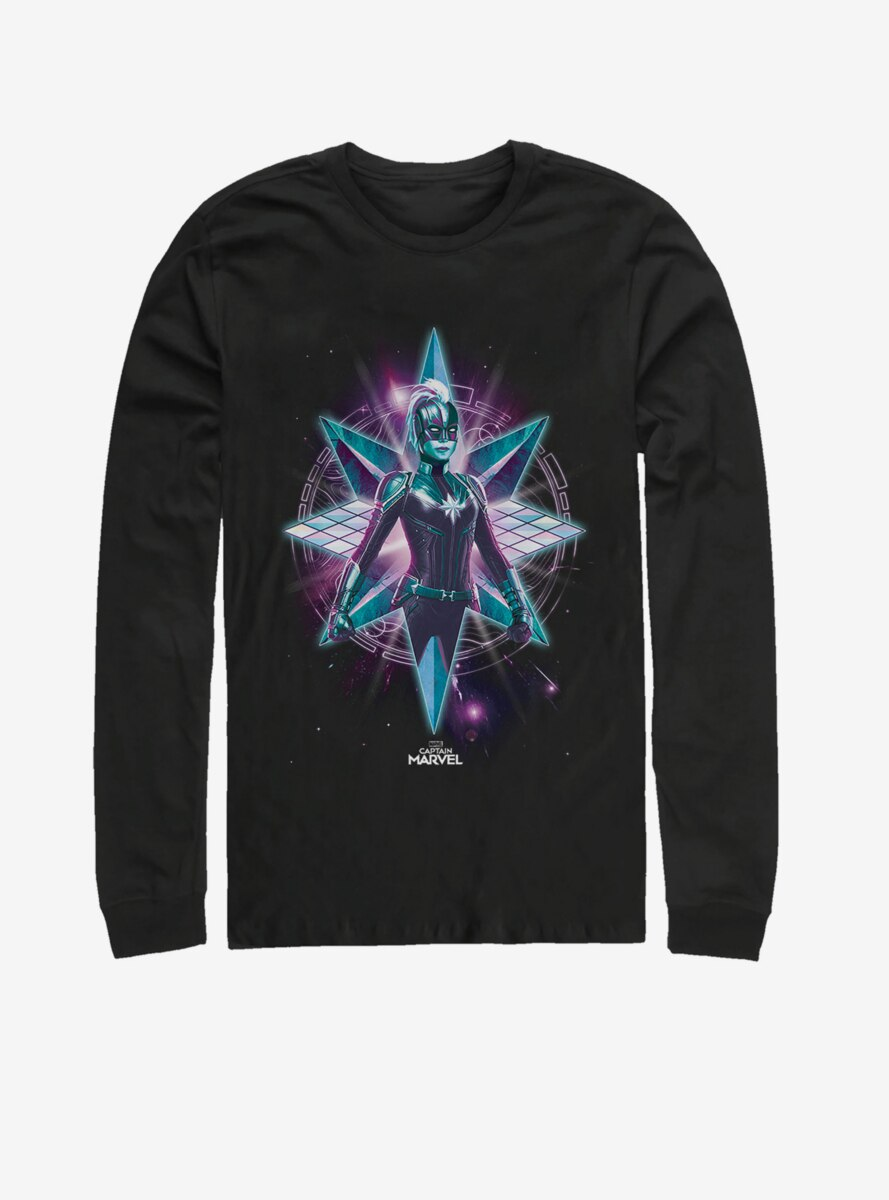 Marvel Captain Marvel Star Warrior Long-Sleeve T-Shirt
