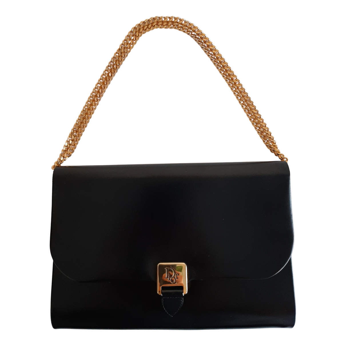Dior - Pochette   pour femme en cuir verni - noir