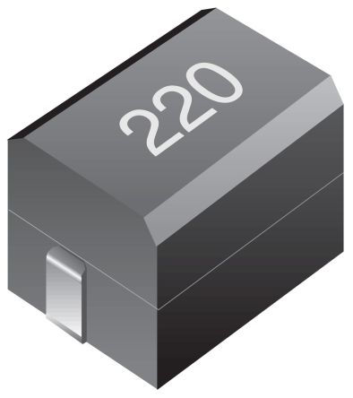 Bourns , CM322522, 322522 Shielded Wire-wound SMD Inductor with a Ferrite Core, 4.7 μH Wire-Wound 165mA Idc Q:30 (20)