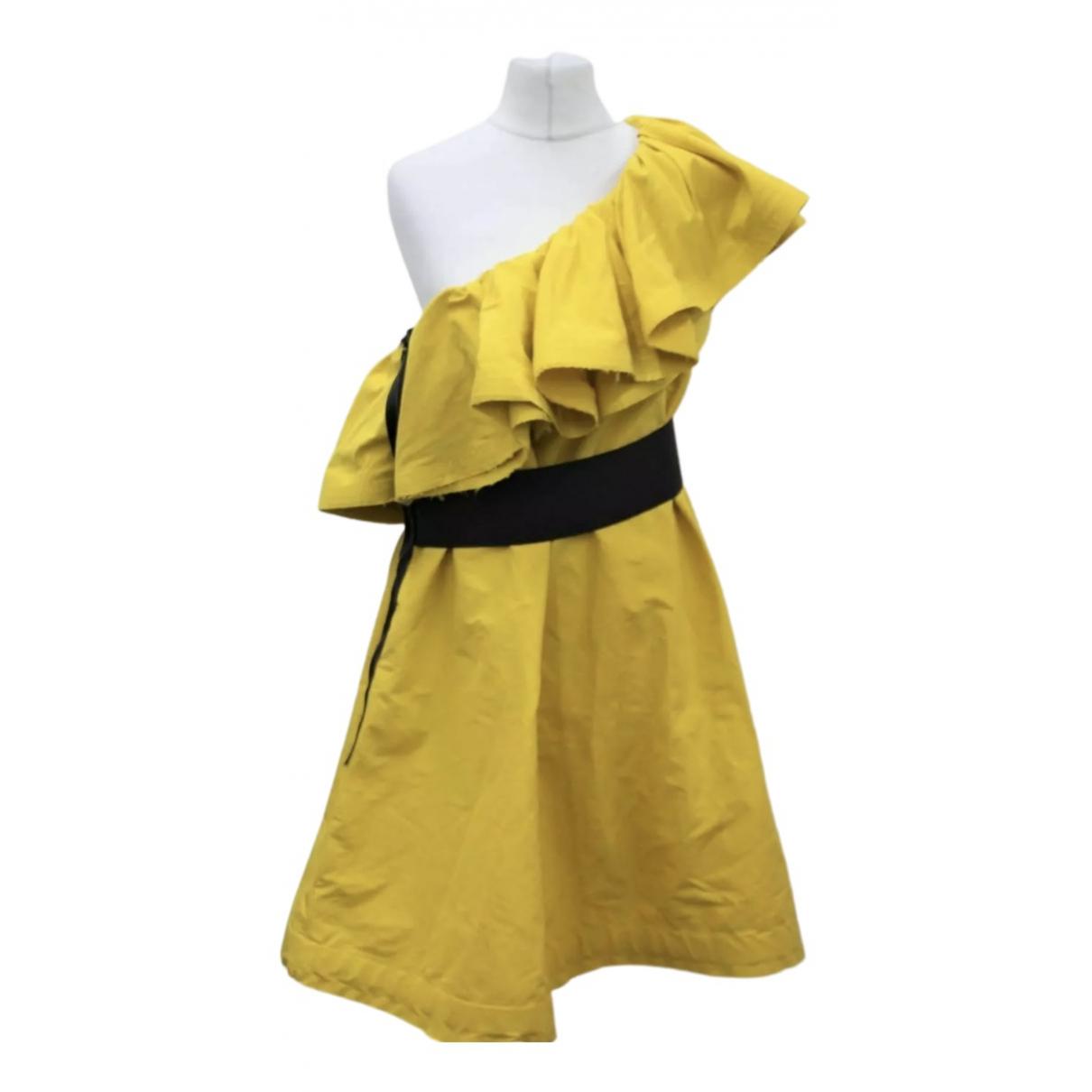 Lanvin For H&m \N Kleid in  Gelb Baumwolle