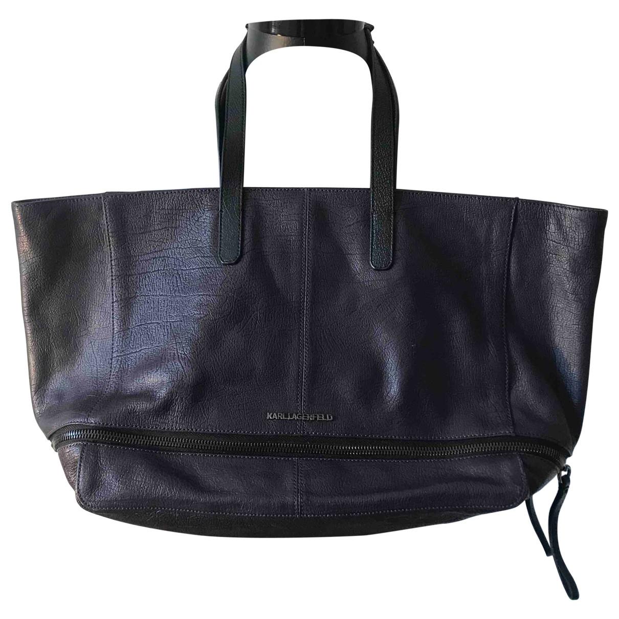 Karl Lagerfeld \N Handtasche in  Lila Fell