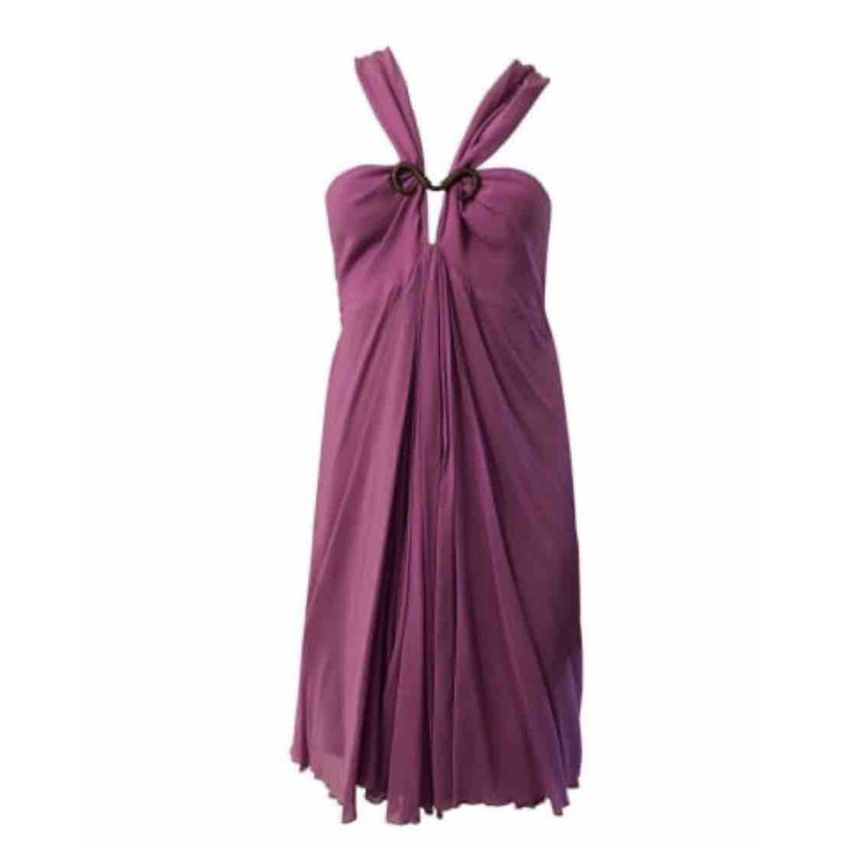 Just Cavalli \N Purple Silk dress for Women 40 FR