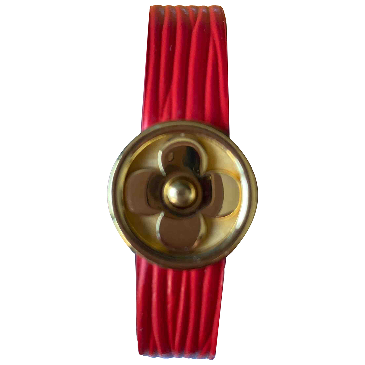 Louis Vuitton \N Armband in  Rot Leder