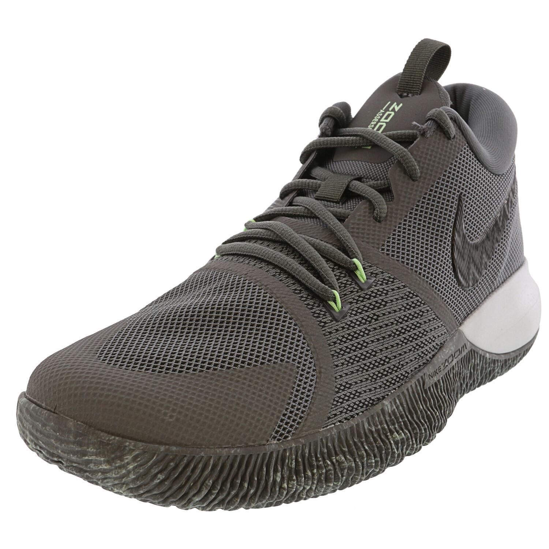 Nike Zoom Assersion Dark Grey / Black Pure Platinum Ankle-High Mesh Running - 13.5M 12.5M