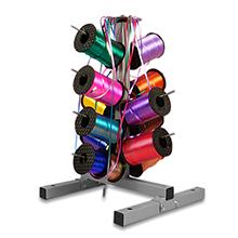 Curling Ribbon Dispenser (24 Roll) Type: 24 Roll Width: 14 1/4 Height/Depth: 33 1/2 Length: 14 1/4