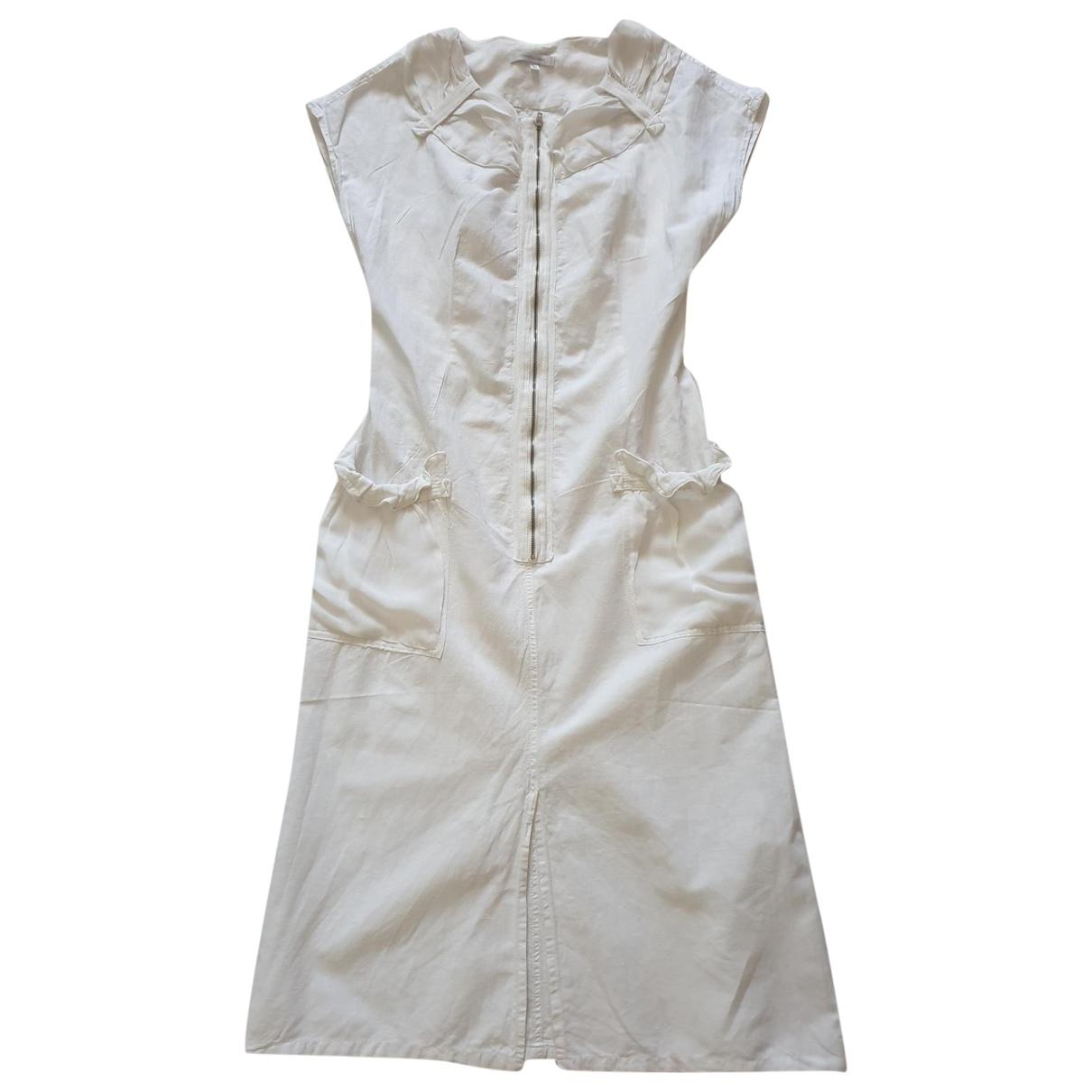 - Robe   pour femme en lin - blanc
