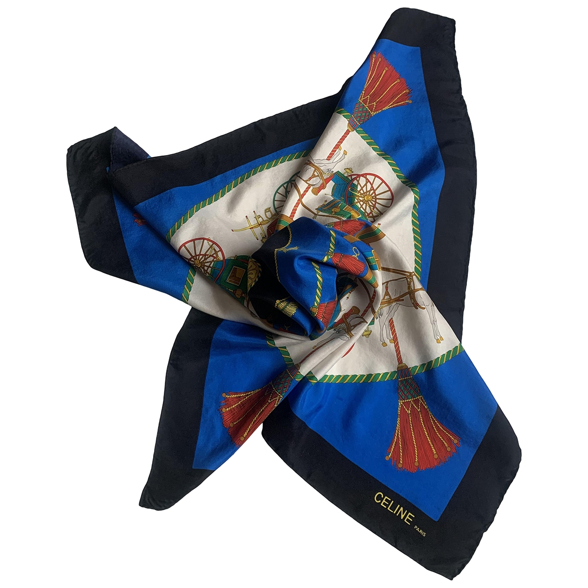 Celine \N Blue Silk Silk handkerchief for Women \N