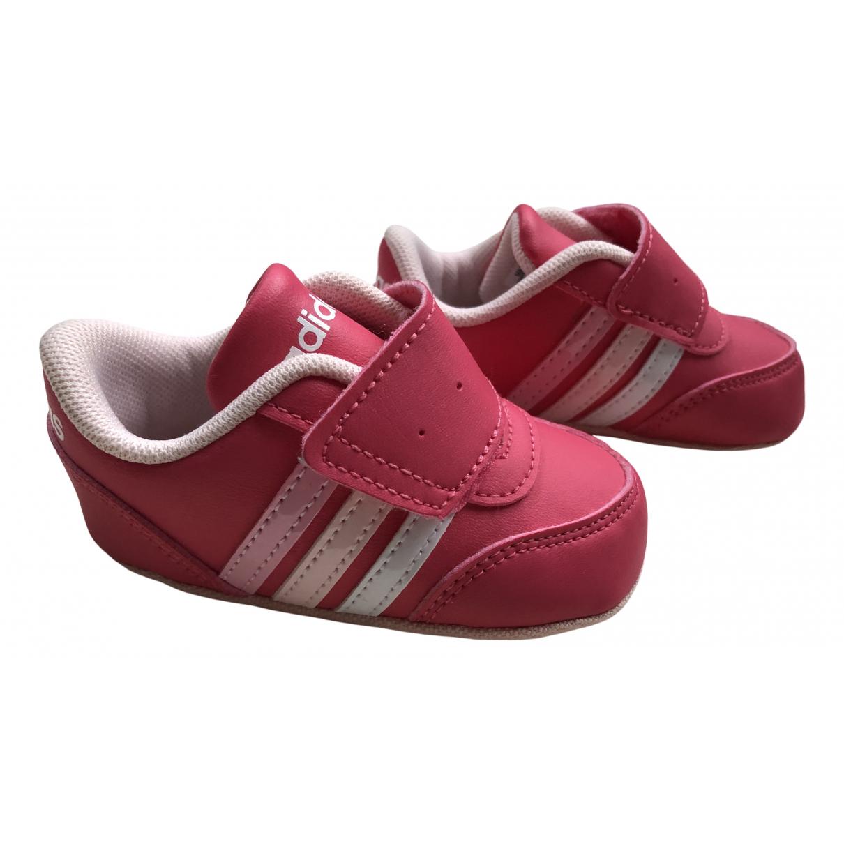 Adidas - Premiers pas   pour enfant en cuir - rose