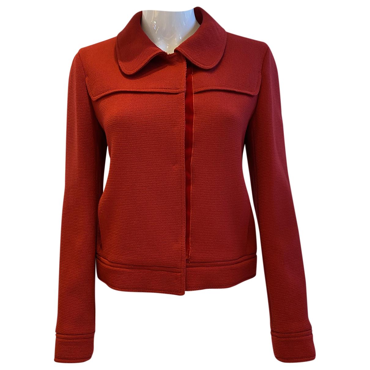 Prada \N Red Wool jacket for Women 44 IT