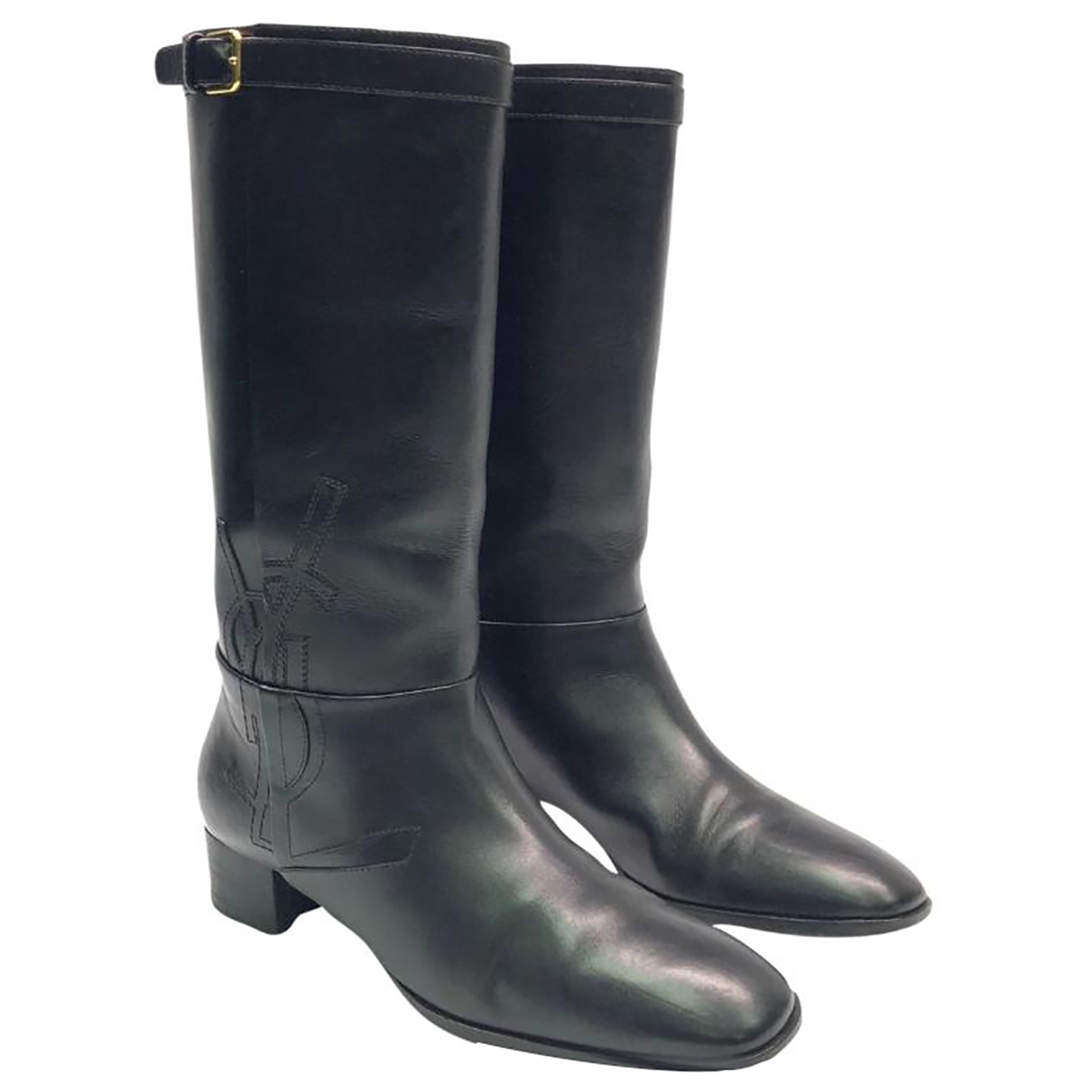 Yves Saint Laurent \N Black Leather Boots for Women 40 EU
