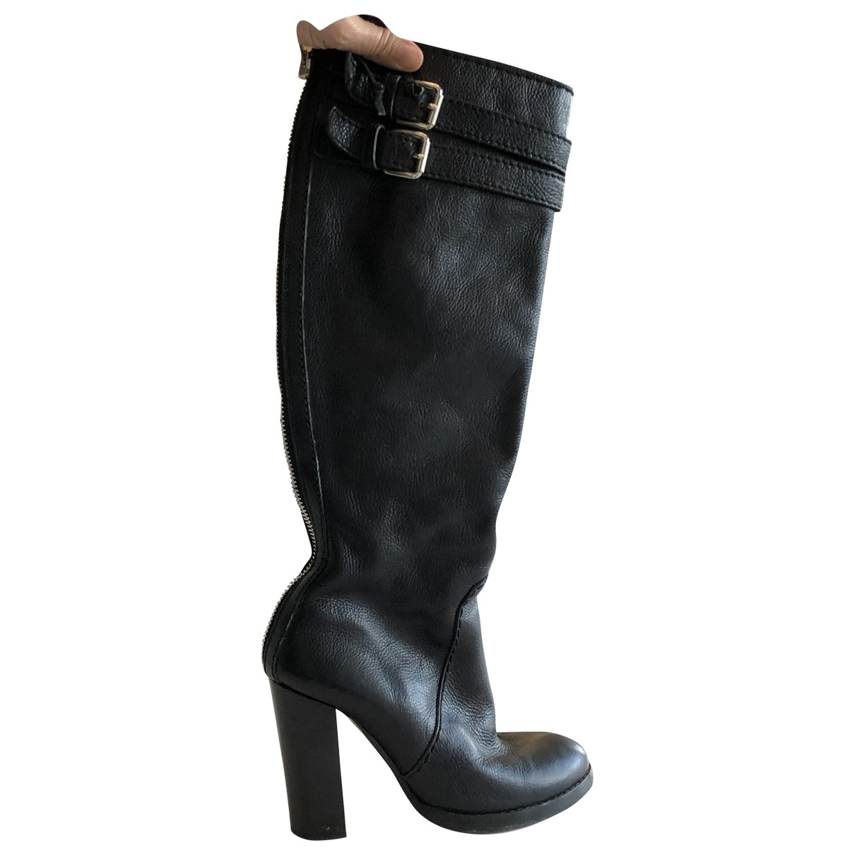 Chloé \N Black Leather Boots for Women 38 EU