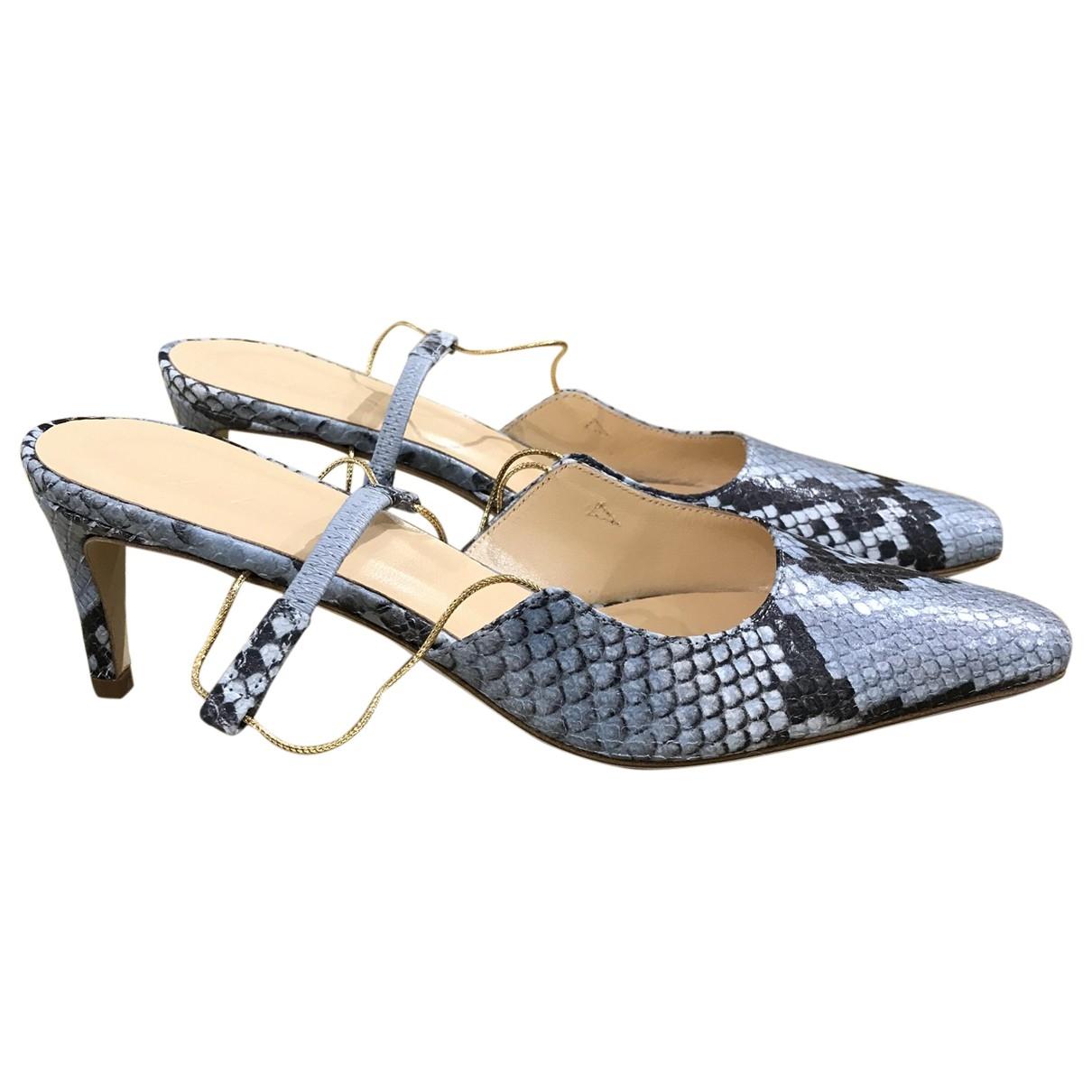 By Far \N Blue Leather Heels for Women 36 EU